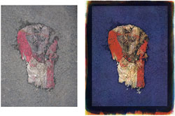 Arby' s 2008; left side, original, right side tricolor gum bichromate.