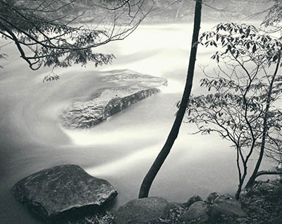 Ziatype print. Floodwaters by Carl Weese.