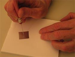 Making a pinhole
