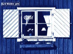 Wadköping Cafe, Cyanotype by Malin Fabbri