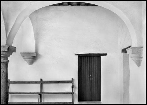 Interior of Museum. 12X17″ palladium toned Kallitype. Digital negative from a 5X7. 2005. Oaxaca, Mexico
