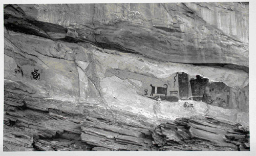 Temple Mountain Wash. 12X20″ palladium toned kallitype, digital negative, from a 12X20 original. 2004. Utah.