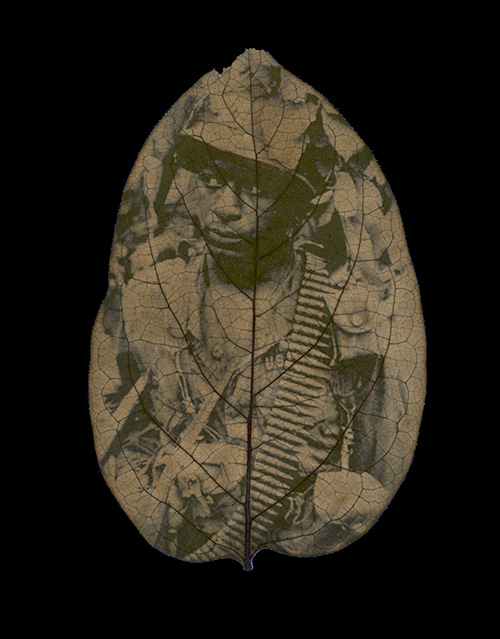 Binh Danh - US soldier From the Immortality: The Remnants of the Vietnam and American War series Chlorophyll print and resin 14 5/8 x 12 1/4 inch 2008