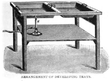 developing tray