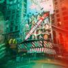 Edvard Levinsons pinhole of Time Square