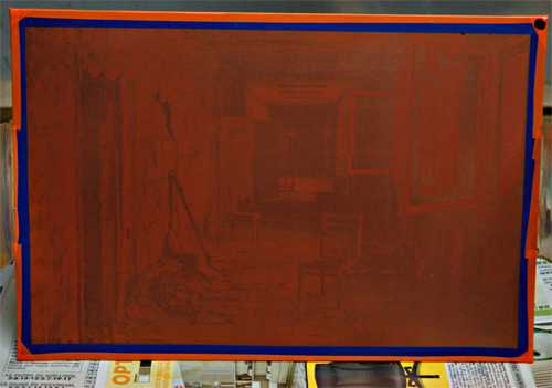 Plate for the non toxic copper plate photogravure process