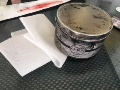 Ink used in the xerolith print process.